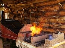 Fogão tradicional do ferreiro Fotografia de Stock Royalty Free