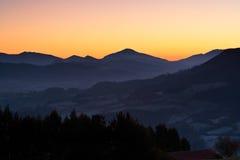 fog над восходом солнца Стоковая Фотография