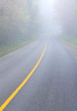 Fog. On road in winter Royalty Free Stock Photos