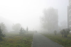 Fog. In the city Royalty Free Stock Image