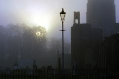 Fog. At sunset in Elgin Moray Scotland royalty free stock image