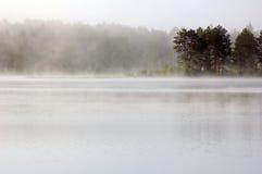 Fog. Above lake in the morning. Samuel de Champlain Prov. Park Royalty Free Stock Photography