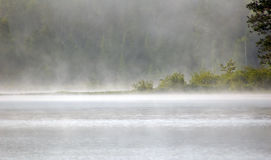Fog above lake Royalty Free Stock Photography