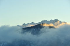 Kaiser peak mountain in Alps Stock Photography