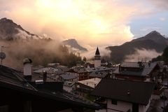 Pieve di Cadore. South Tyrol Royalty Free Stock Image