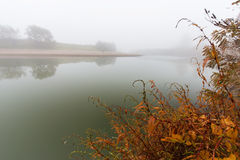 Fog And Mist On A Wild River Royalty Free Stock Photography