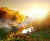 Fog in autumn Stock Photo