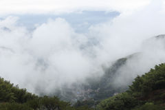 The sea of clouds rising Royalty Free Stock Images