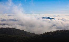 Fog Background Clouds North Carolina Stock Photo