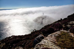 Fog bank at South Stack Stock Photos