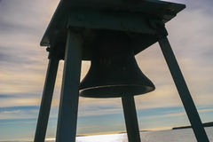Fog Bell at Bass Harbor Head Light, Maine Stock Image