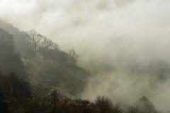 Fog below Coaley Peak Royalty Free Stock Photography