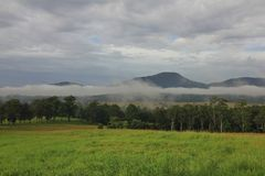 Fog belt in rural New South Wales Stock Image