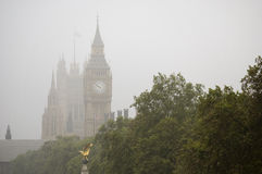 Fog on Big Ben stock photo