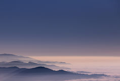 Fog in Black Forest, Germany Stock Photo