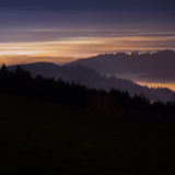 Fog in Black Forest at night Stock Photos