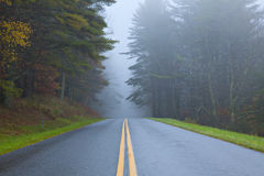 Fog on Blue Ridge Parkway Stock Image