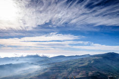 Fog on Blue Sky and Cloud Mountain View Royalty Free Stock Photos