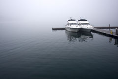 Fog and boats Royalty Free Stock Photo