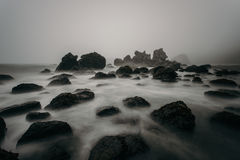 Fog on Boulder Royalty Free Stock Photography