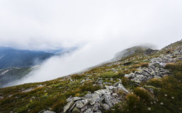 Fog in Calimani Mountains Royalty Free Stock Photos