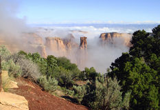 Fog in Canyon Stock Images