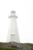Fog at Cape Spear Lighthouse Royalty Free Stock Image