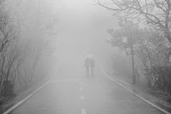 fog of china prevent travel Royalty Free Stock Photo