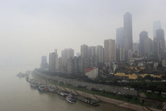 Fog chongqing city Stock Images