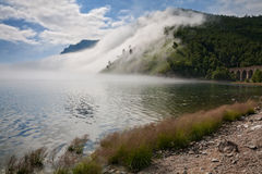 Fog on the Circum-Baikal Stock Photography