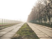 Fog in the city. Foggy weather in Kiev Royalty Free Stock Photos