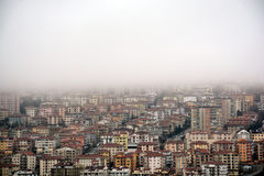 Fog in a city Stock Photo