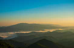 Fog and cloud mountain Stock Images