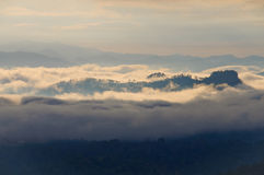 Fog and cloud mountain Stock Photography