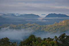 Fog and cloud mountain Royalty Free Stock Images