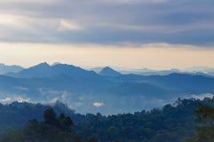 Fog and cloud mountain Stock Photos
