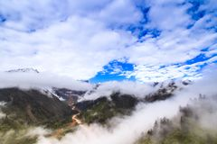 Fog and cloud in the mountain. Highland Royalty Free Stock Images