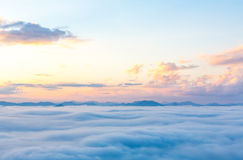 Fog and cloud mountain Stock Photo