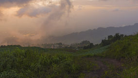 Fog and cloud mountain valley landscape Royalty Free Stock Photo