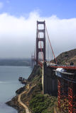 Fog and clouds. Golden Gate Bridge with clouds and San Francisco in background Stock Image
