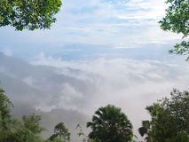 Fog and clouds above the mountains Royalty Free Stock Photography