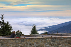 Fog Clouds Mount Mitchell North Carolina Stock Images