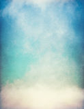 Textured Fog with Gradient. Fog and clouds on a vintage, textured paper background with a color gradient Royalty Free Stock Photos