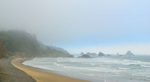 Fog on the coast of the Pacific Ocean. USA. Oregon Royalty Free Stock Images