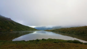 Fog coming in campsite. Before tent was set up Royalty Free Stock Photography