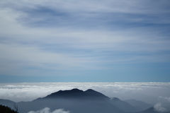 Fog cover on the mountain and bring cloudy. Fog cover on the mountain Royalty Free Stock Image