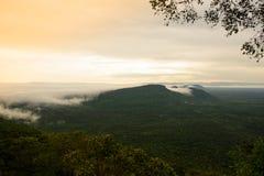 Fog Cover Mountains stock photo