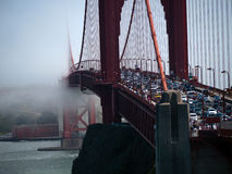 Fog creeping in over Golden Gate Bridge Royalty Free Stock Photos
