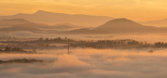 Fog in the Da Lat city Royalty Free Stock Image