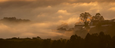 Fog in the Da Lat city Stock Images